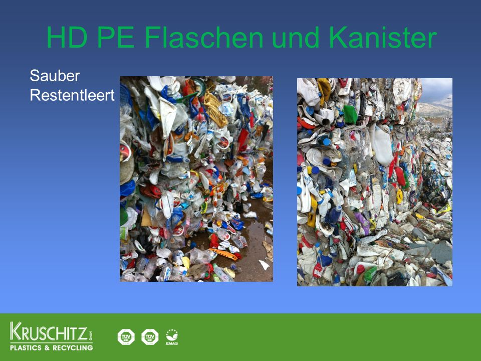 HD PE Flaschen und Kanister
