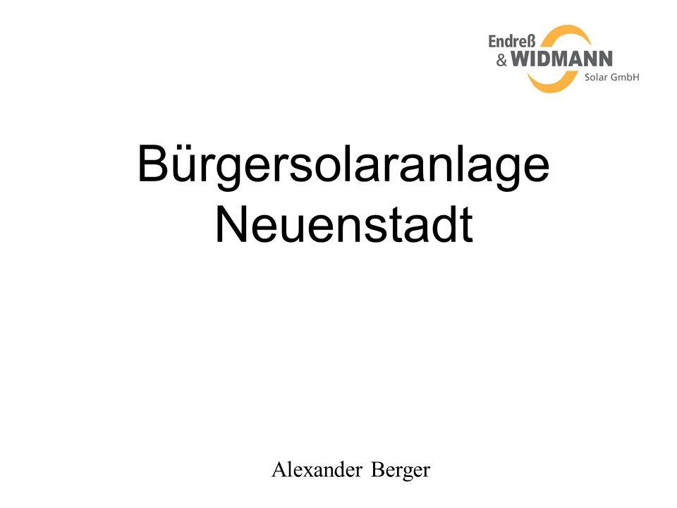 Bürgersolaranlage Neuenstadt