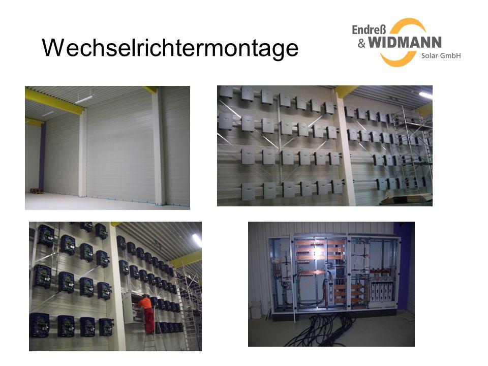 Wechselrichtermontage
