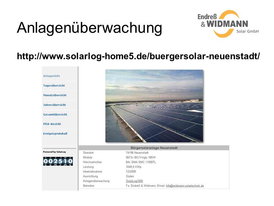 Anlagenüberwachung http://www.solarlog-home5.de/buergersolar-neuenstadt/