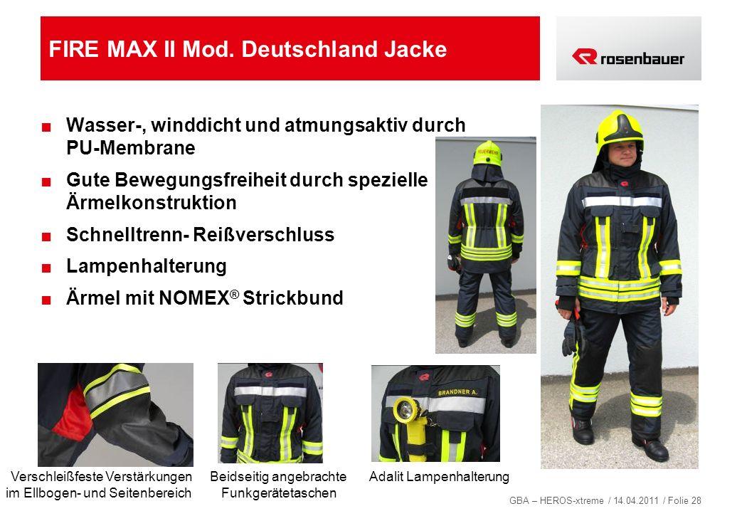 FIRE MAX II Mod. Deutschland Jacke
