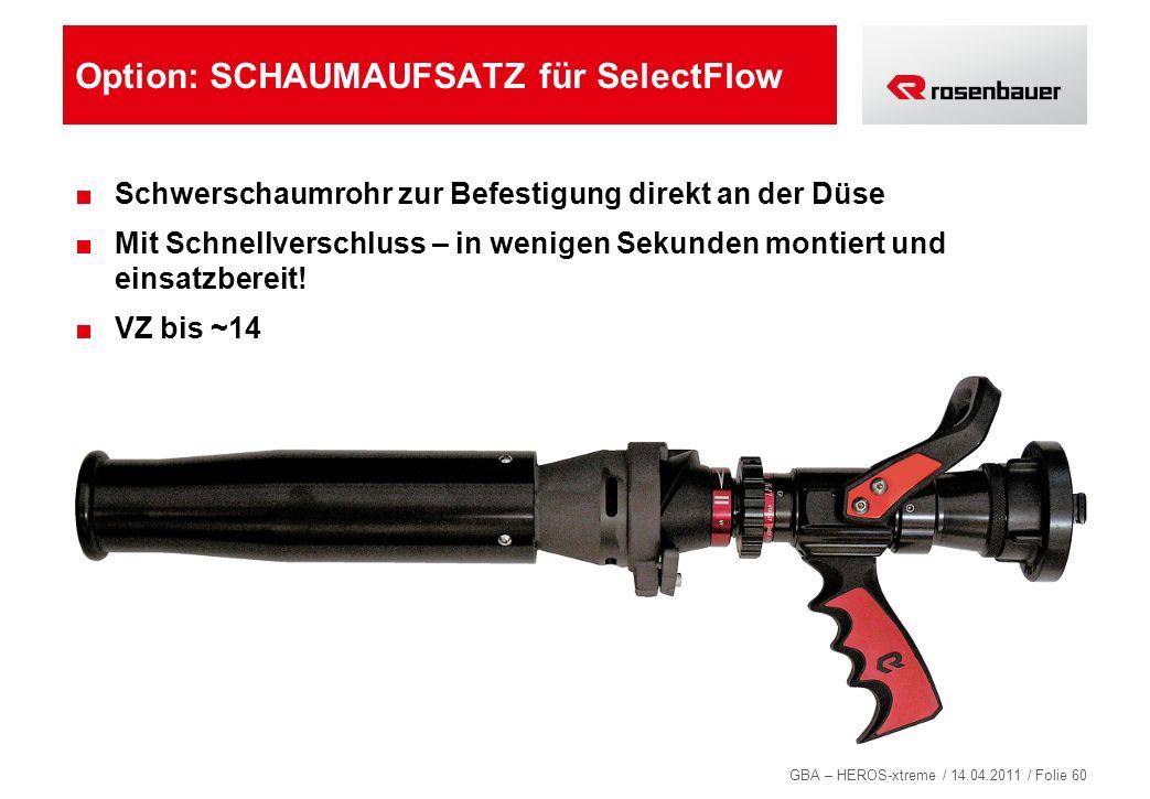 Option: SCHAUMAUFSATZ für SelectFlow