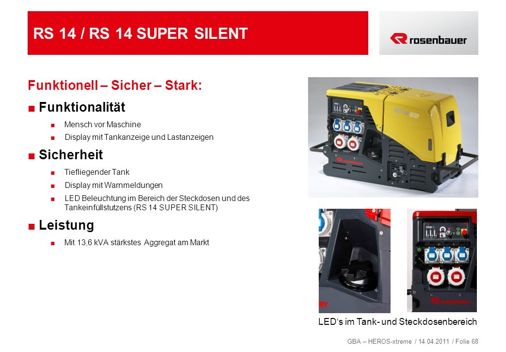 RS 14 / RS 14 SUPER SILENT Funktionell – Sicher – Stark: