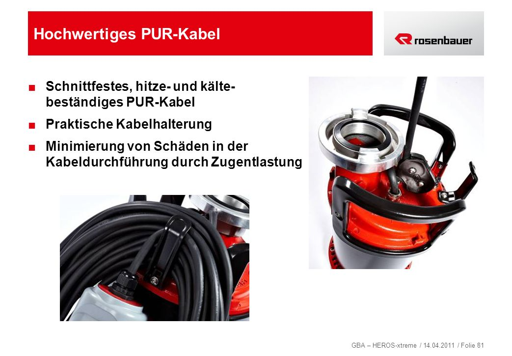 Hochwertiges PUR-Kabel