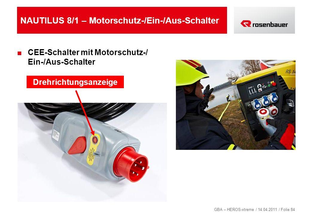 NAUTILUS 8/1 – Motorschutz-/Ein-/Aus-Schalter