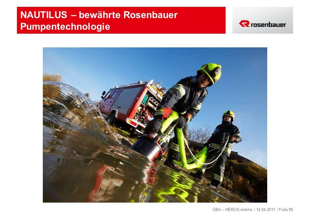 NAUTILUS – bewährte Rosenbauer Pumpentechnologie