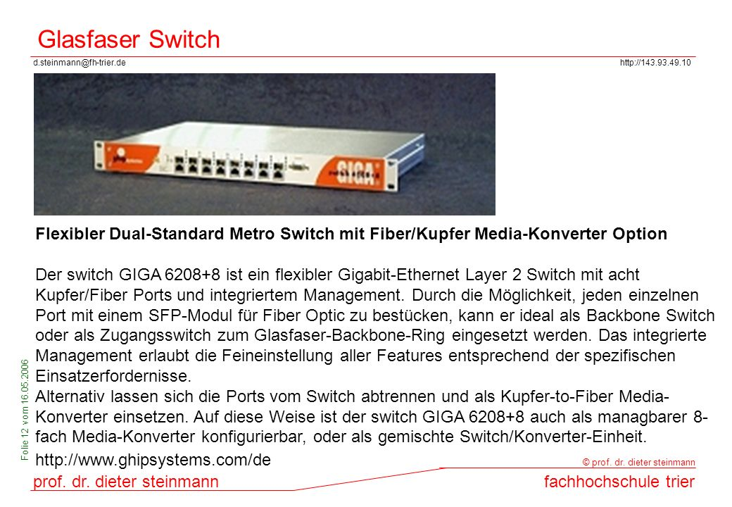 Glasfaser Switch Flexibler Dual-Standard Metro Switch mit Fiber/Kupfer Media-Konverter Option.