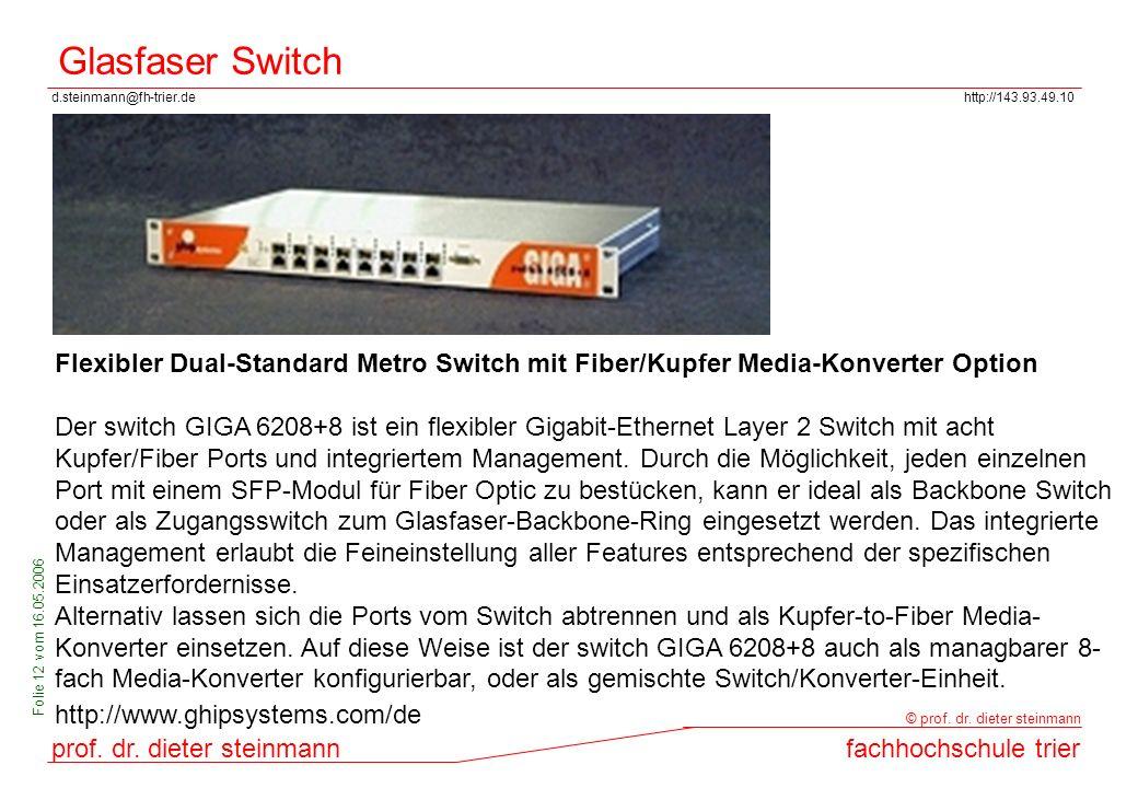 Glasfaser Switch Flexibler Dual-Standard Metro Switch mit Fiber/Kupfer Media-Konverter Option.