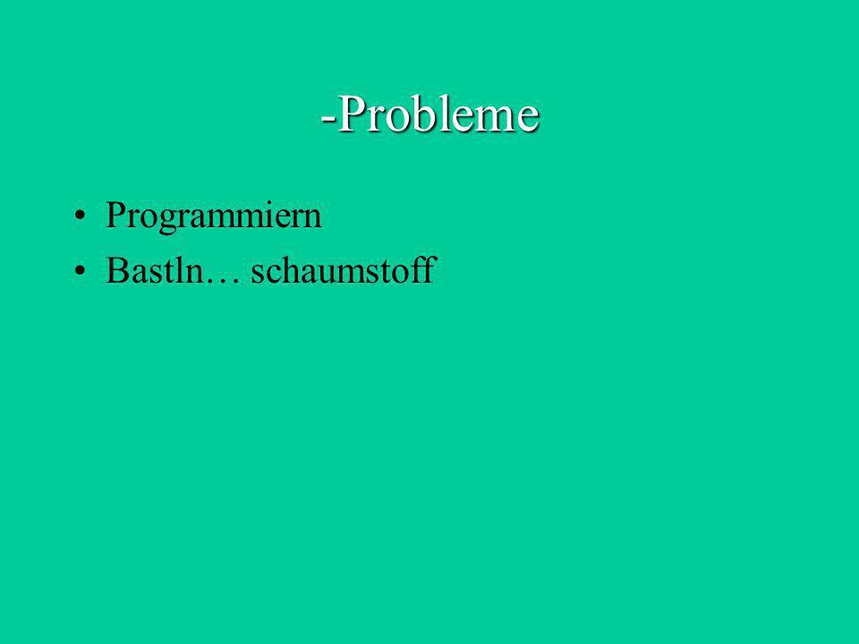 Probleme Programmiern Bastln… schaumstoff