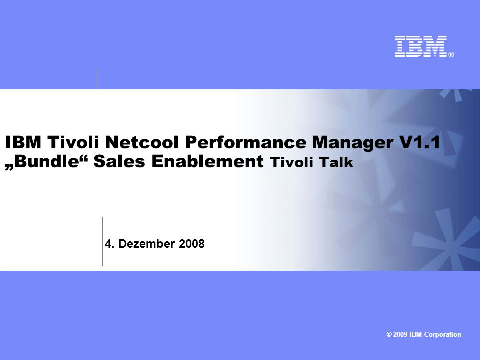 IBM Tivoli Netcool Performance Manager V1
