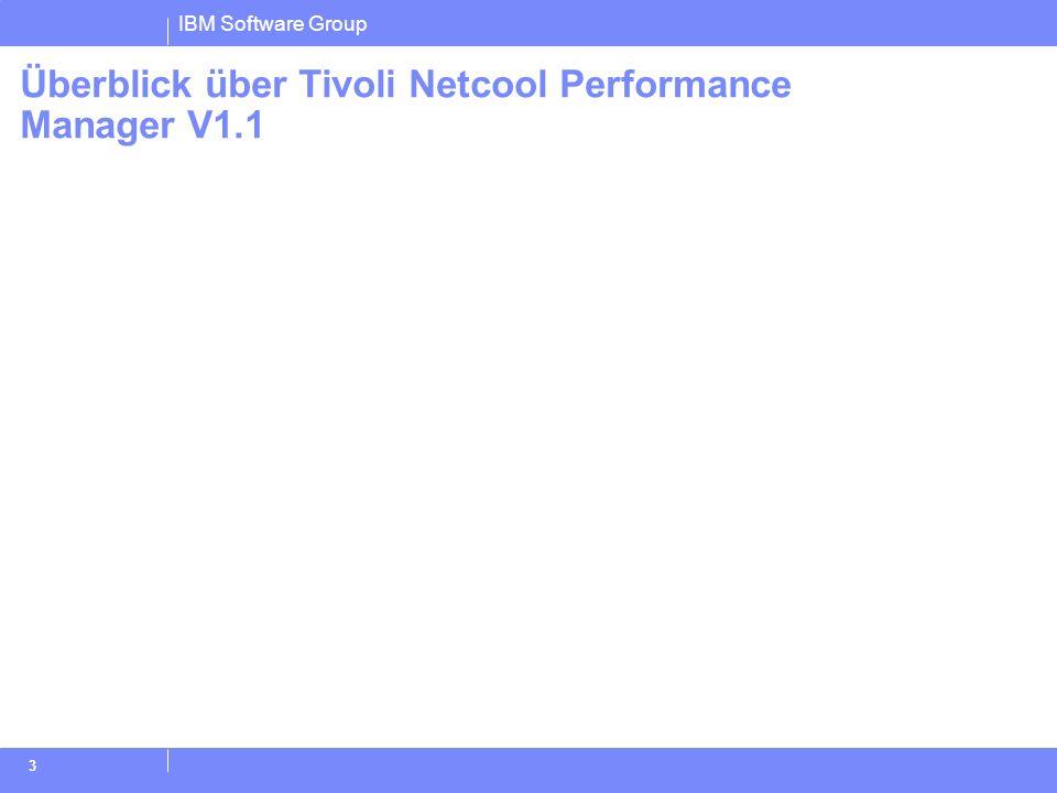 Überblick über Tivoli Netcool Performance Manager V1.1