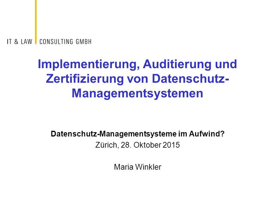 Datenschutz-Managementsysteme im Aufwind