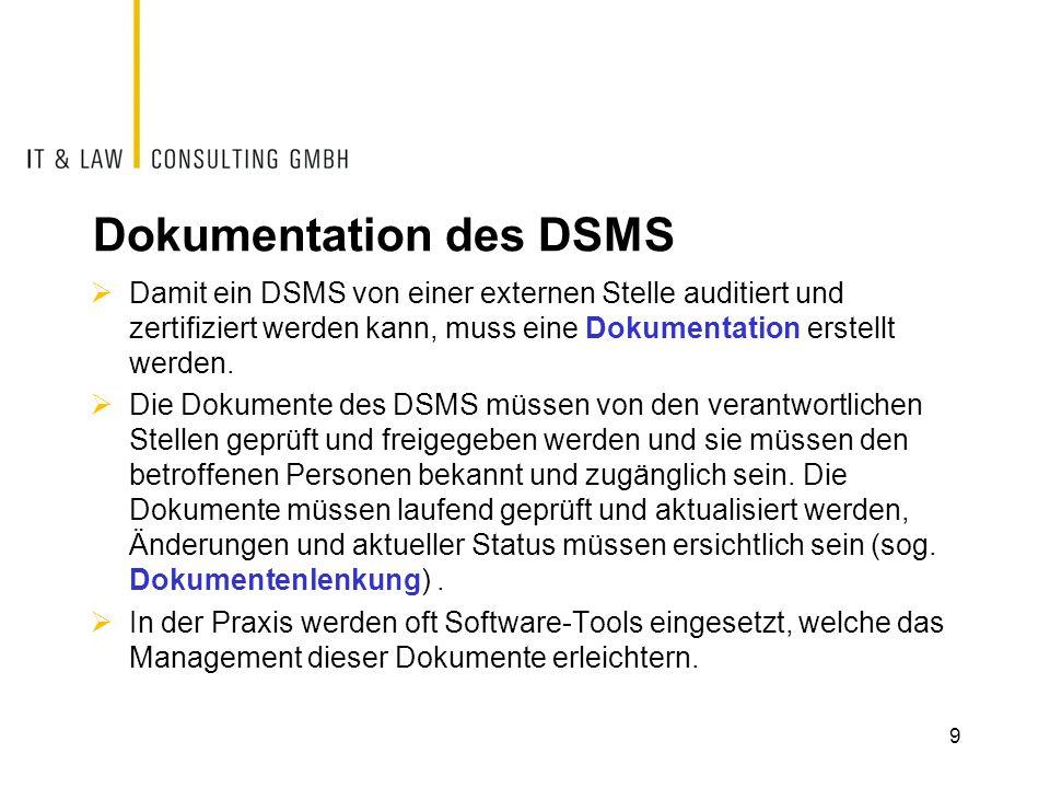 Dokumentation des DSMS