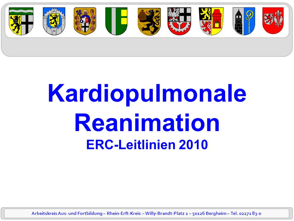 Kardiopulmonale Reanimation ERC-Leitlinien 2010