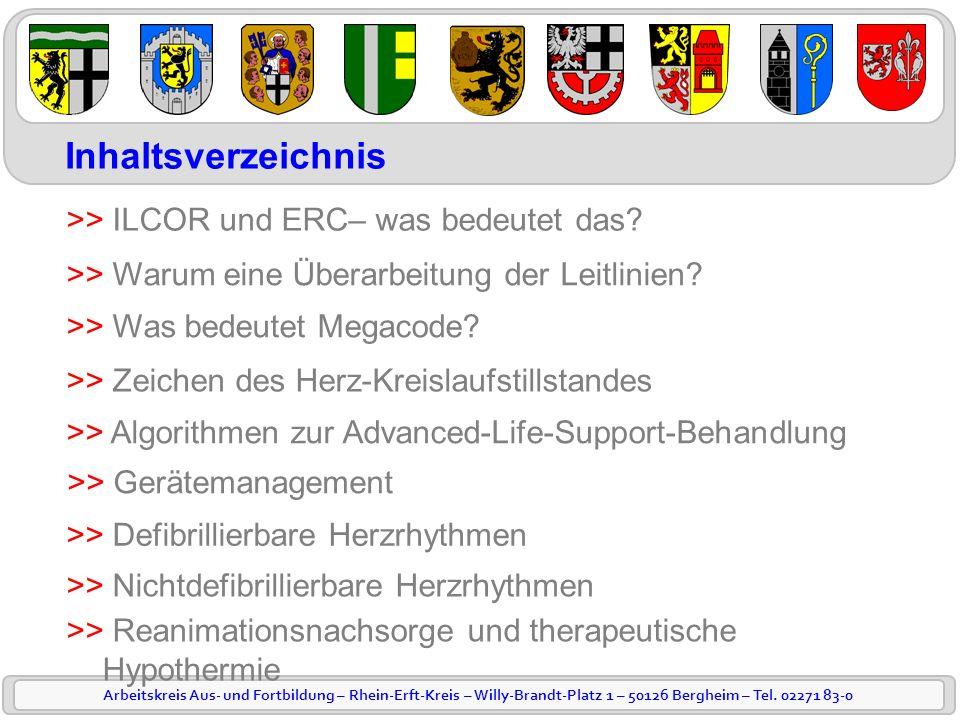 Inhaltsverzeichnis >> ILCOR und ERC– was bedeutet das