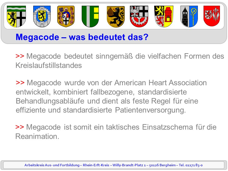 Megacode – was bedeutet das