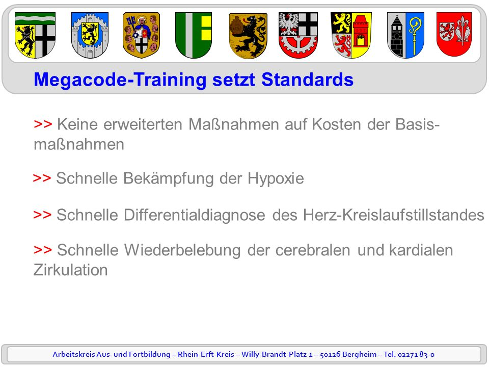 Megacode-Training setzt Standards