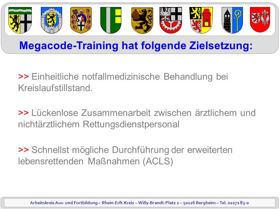 Megacode-Training hat folgende Zielsetzung: