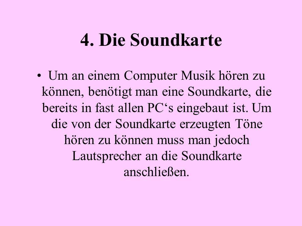 4. Die Soundkarte