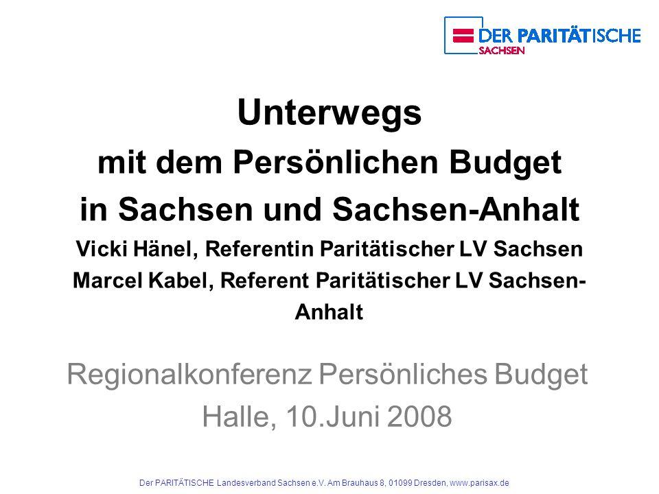 Regionalkonferenz Persönliches Budget Halle, 10.Juni 2008