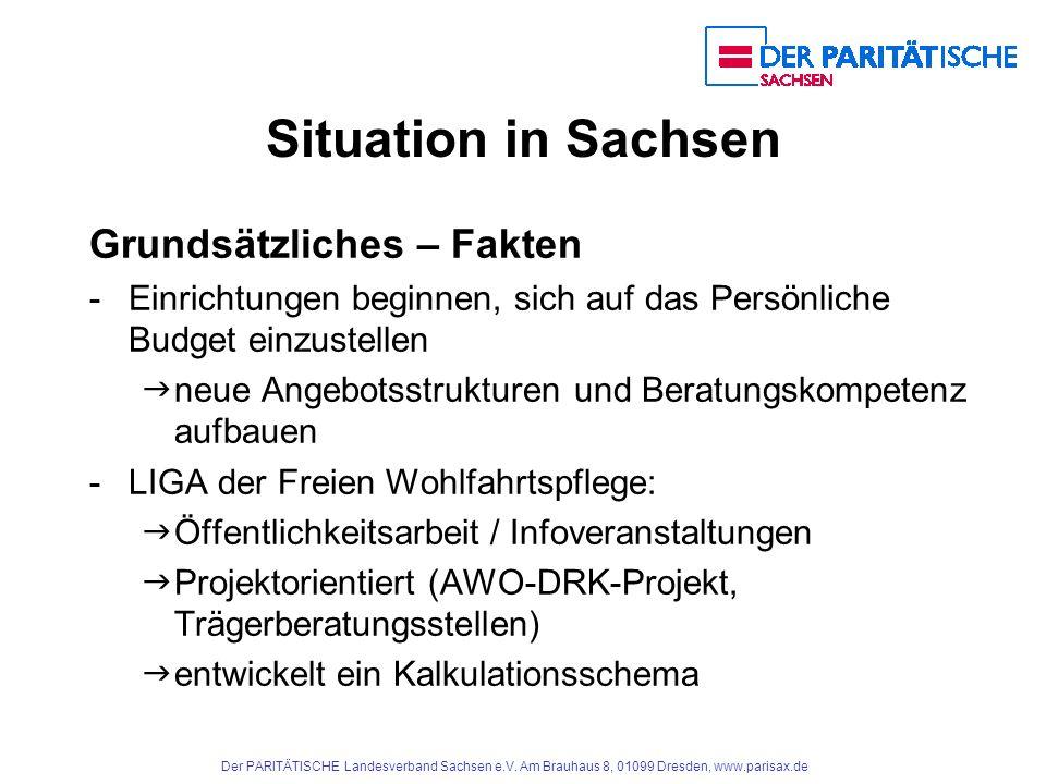 Situation in Sachsen Grundsätzliches – Fakten