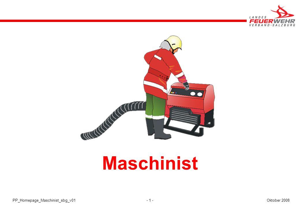 Maschinist PP_Homepage_Maschinist_sbg_v01 Oktober 2008 Maschinist