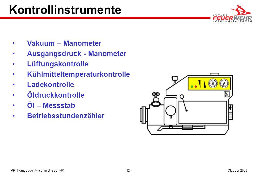 Kontrollinstrumente Vakuum – Manometer Ausgangsdruck - Manometer