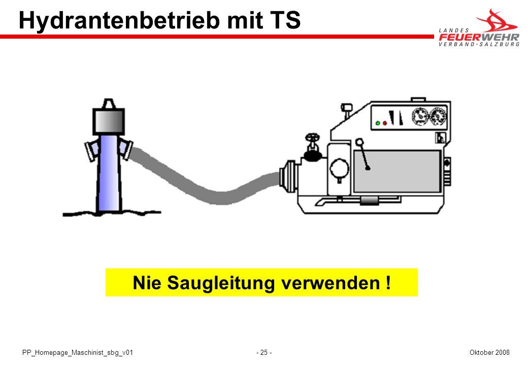 Hydrantenbetrieb mit TS