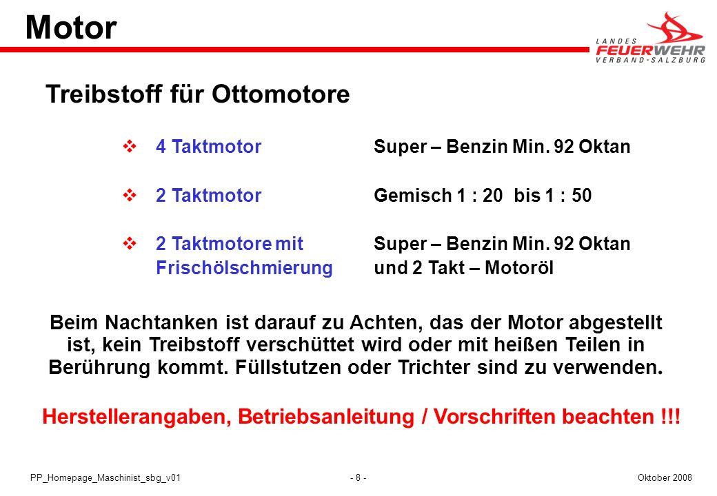 Herstellerangaben, Betriebsanleitung / Vorschriften beachten !!!