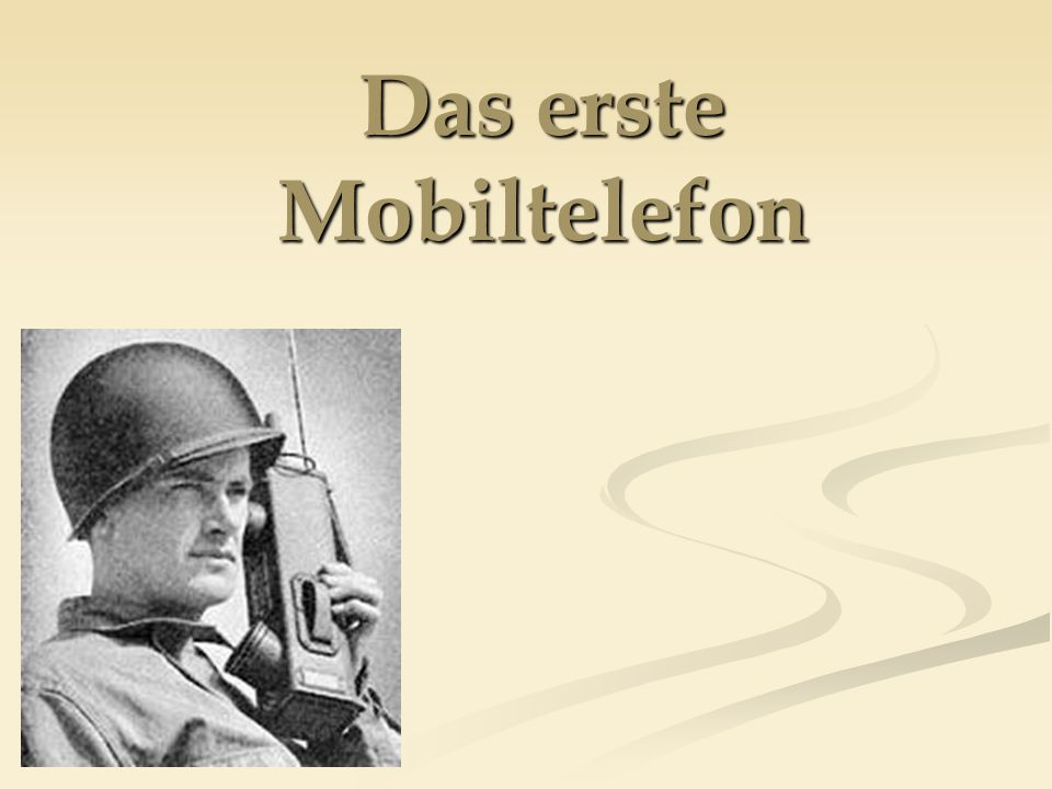 Das erste Mobiltelefon