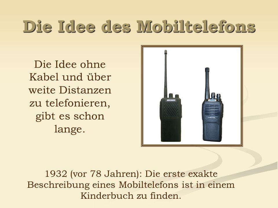 Die Idee des Mobiltelefons