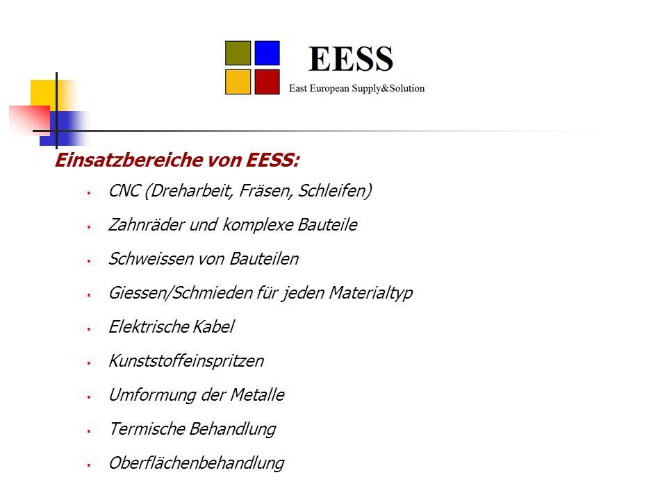 Einsatzbereiche von EESS: