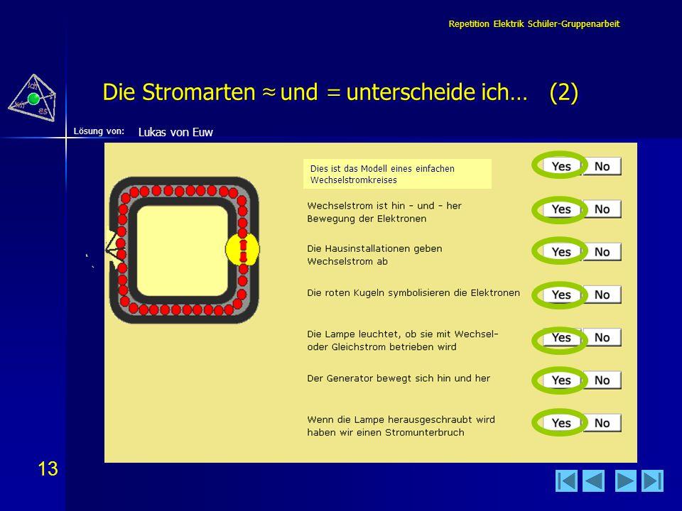 Die Stromarten ≈ und = unterscheide ich… (2)