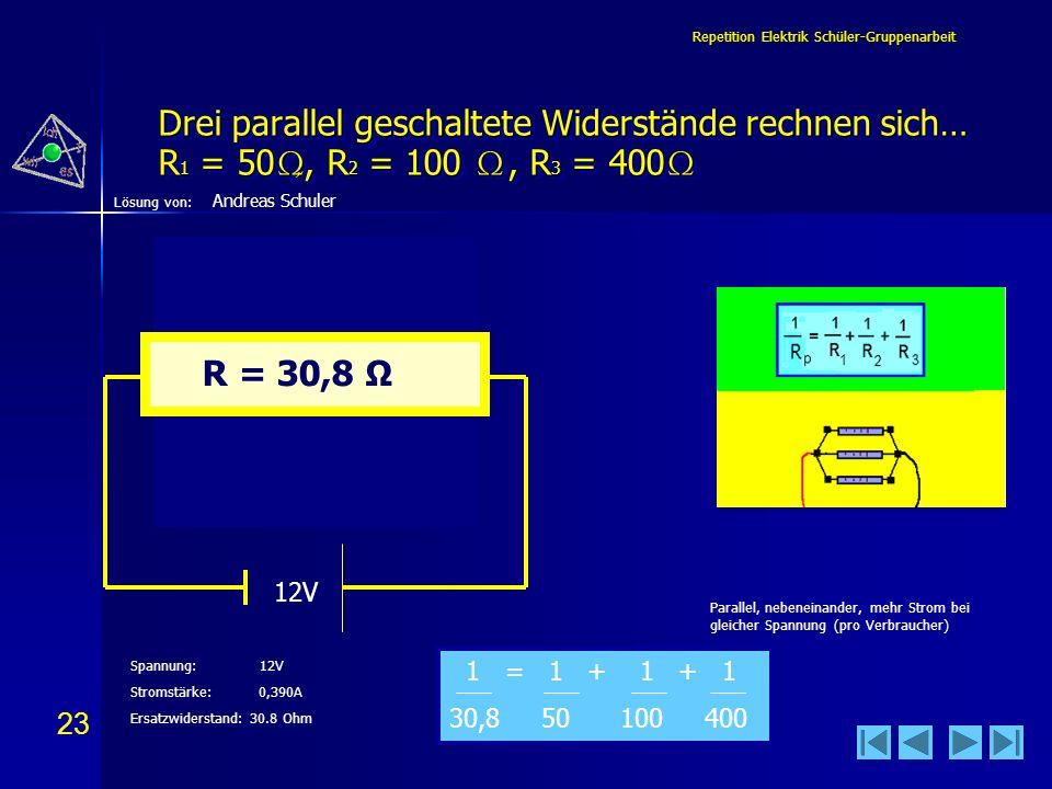 Repetition Elektrik Schüler-Gruppenarbeit