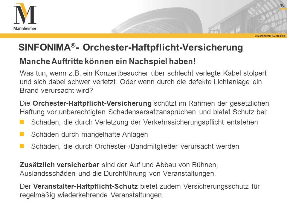 SINFONIMA®- Orchester-Haftpflicht-Versicherung