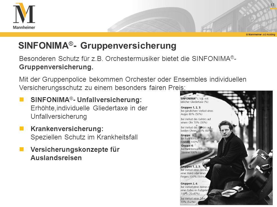 SINFONIMA®- Gruppenversicherung