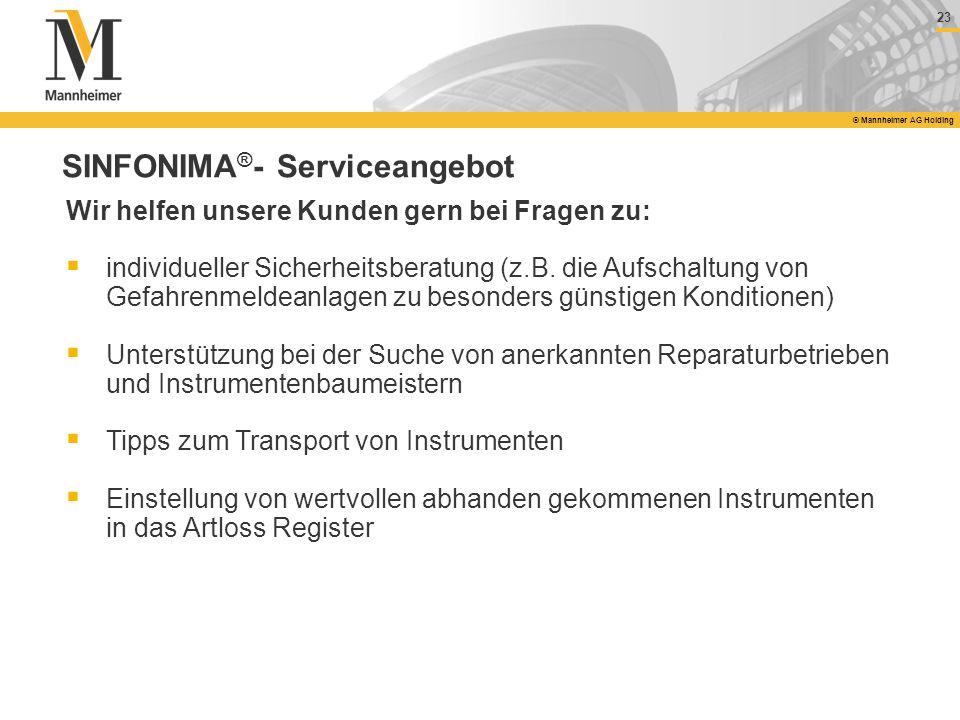 SINFONIMA®- Serviceangebot