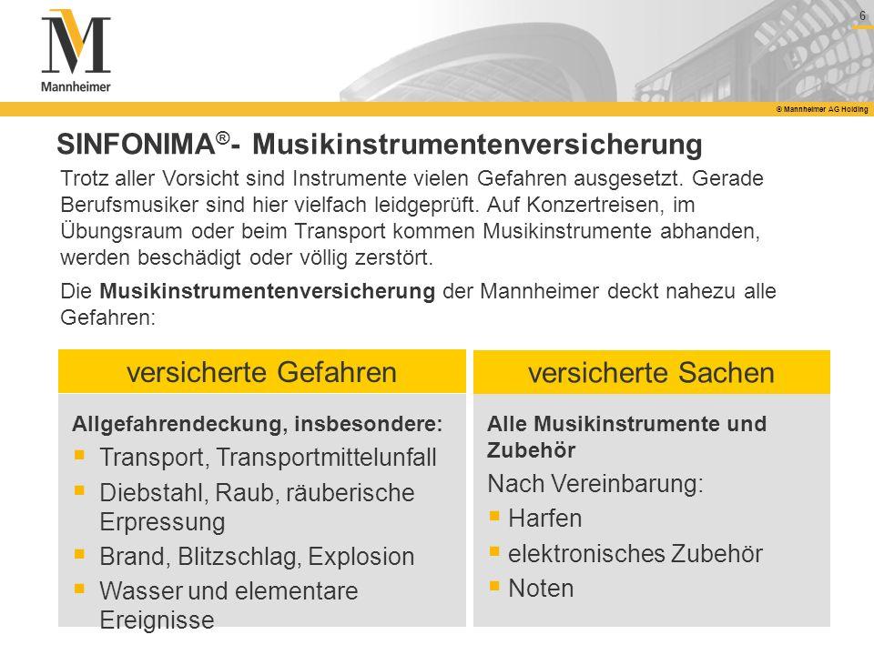 SINFONIMA®- Musikinstrumentenversicherung