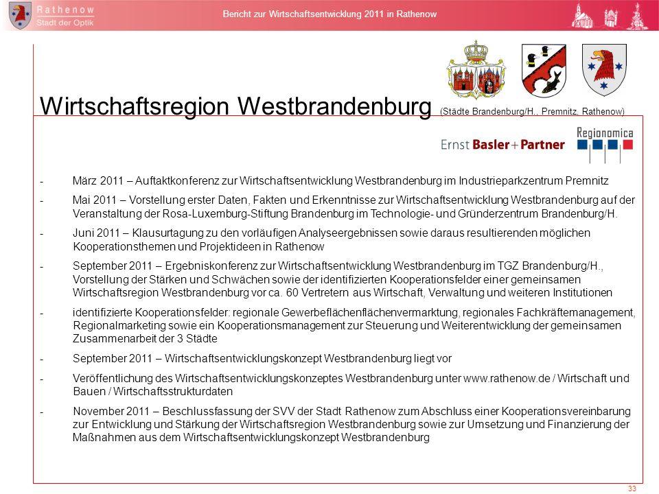 Fachkräftebedarfsanalyse Westhavelland (Premnitz, Rathenow)