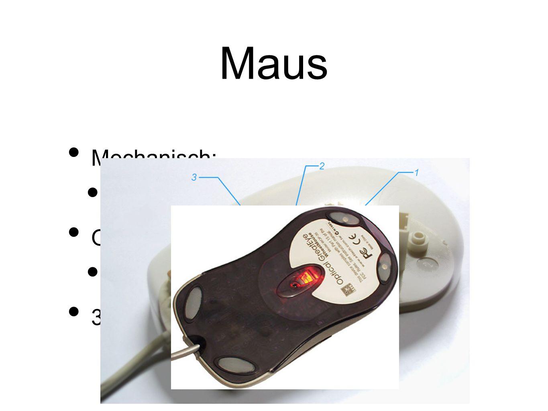 Maus Mechanisch: Mit Ball und Achsen Optisch: