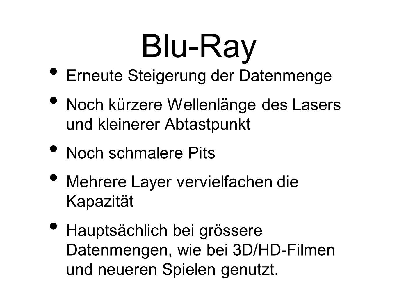 Blu-Ray Erneute Steigerung der Datenmenge