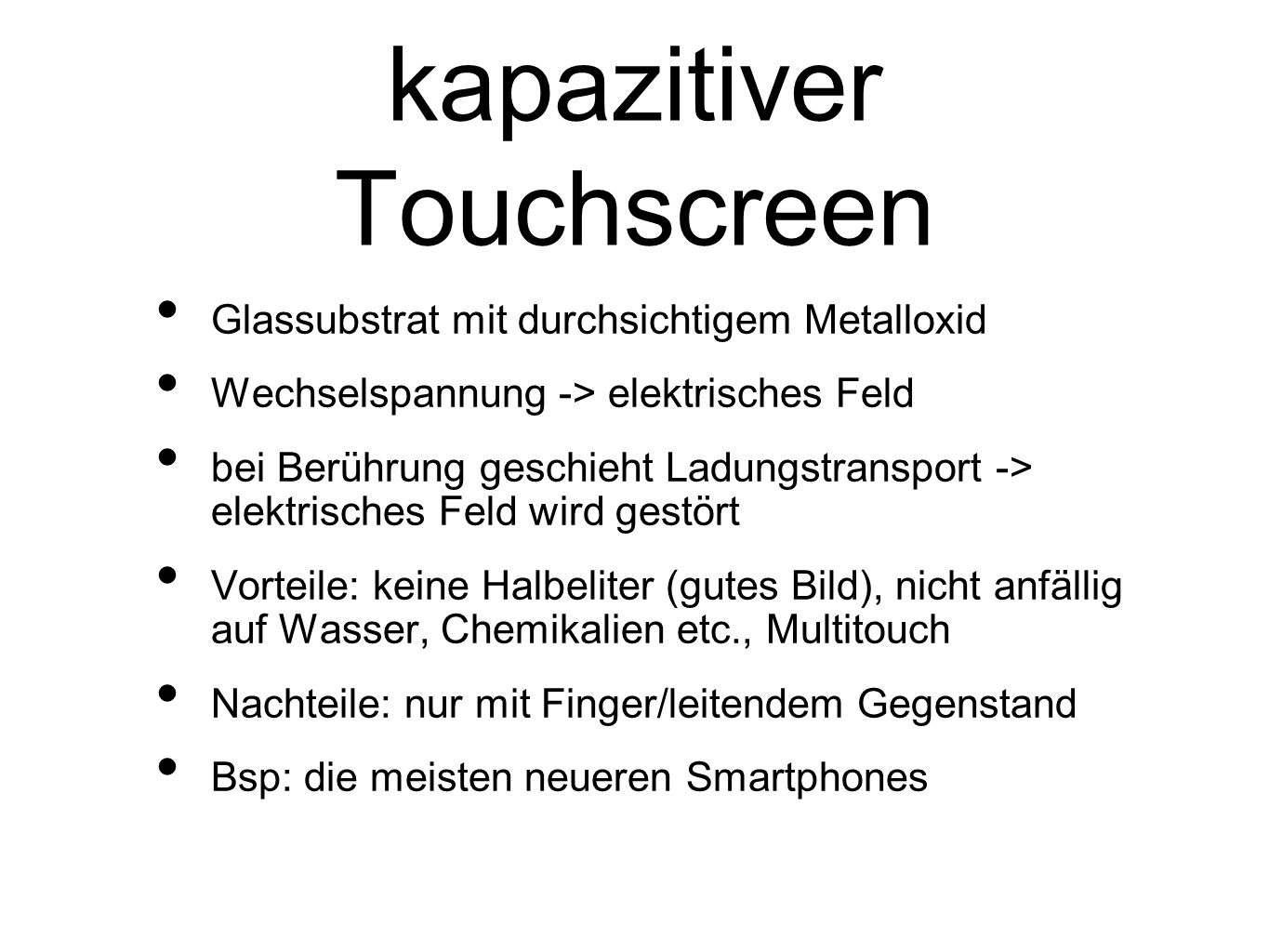 kapazitiver Touchscreen