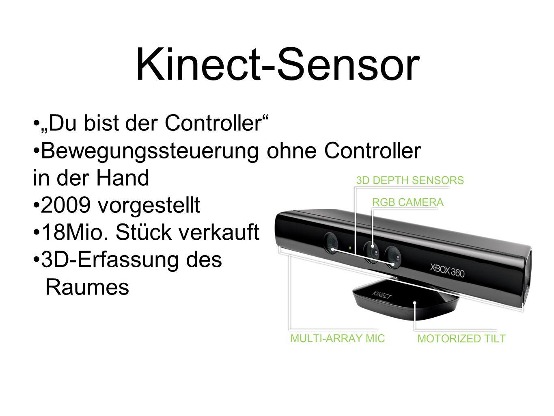 """Kinect-Sensor """"Du bist der Controller"""