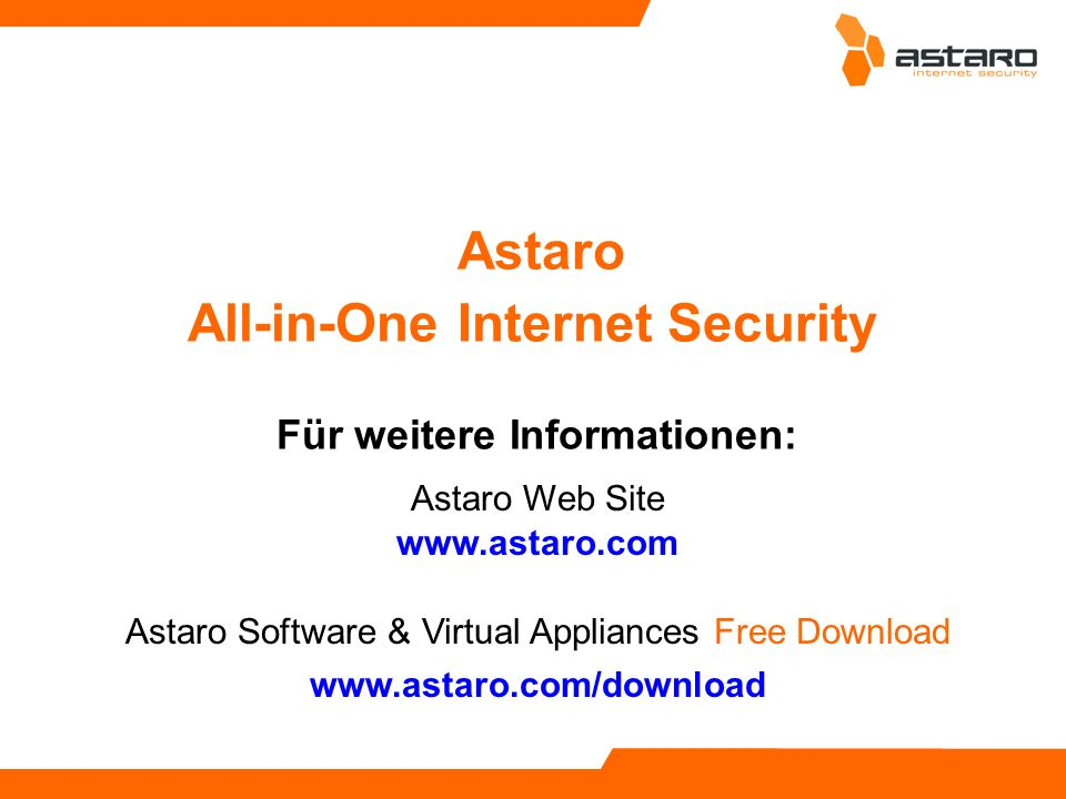 Astaro All-in-One Internet Security