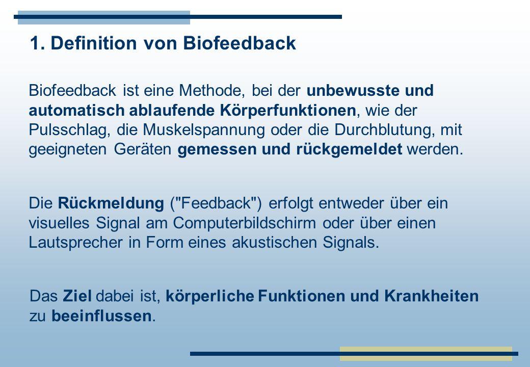 1. Definition von Biofeedback