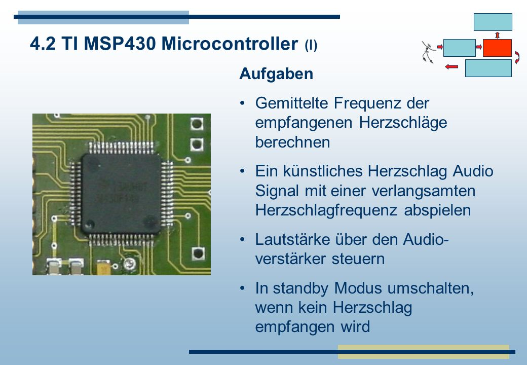 4.2 TI MSP430 Microcontroller (I)