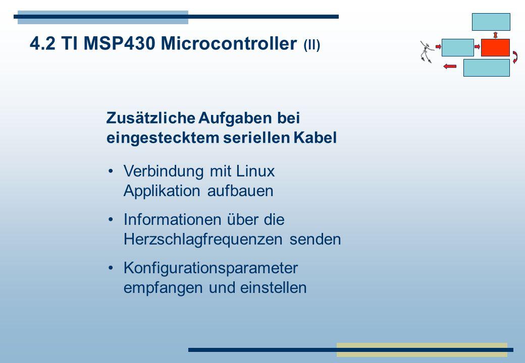 4.2 TI MSP430 Microcontroller (II)
