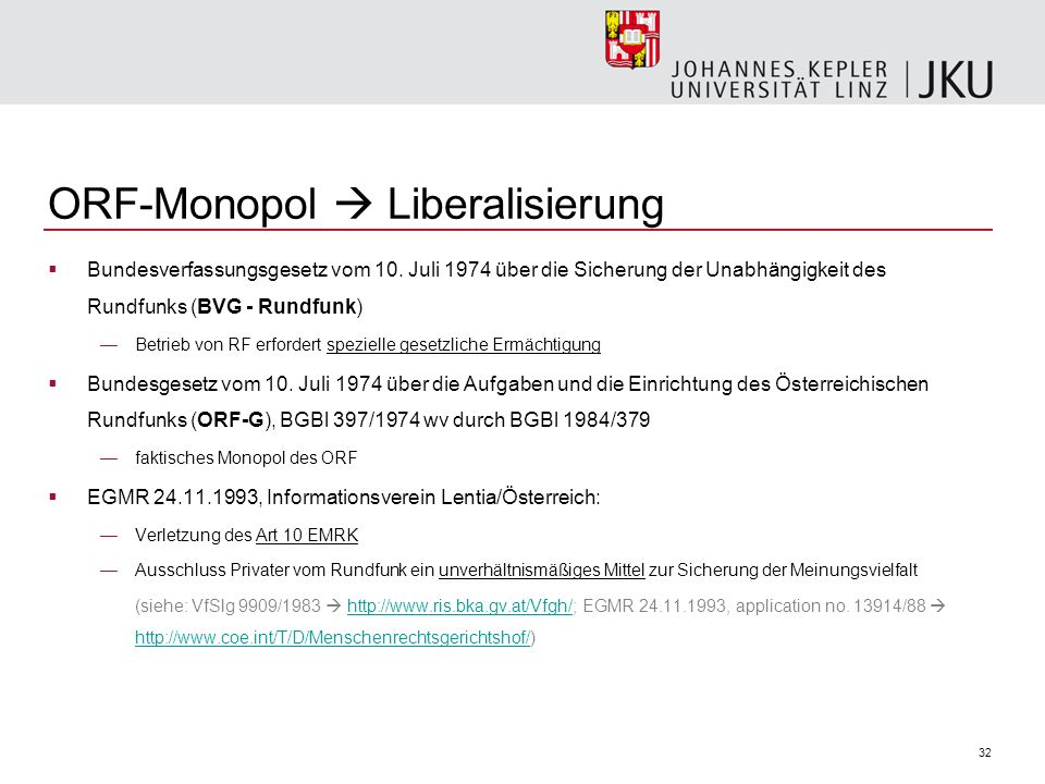 ORF-Monopol  Liberalisierung