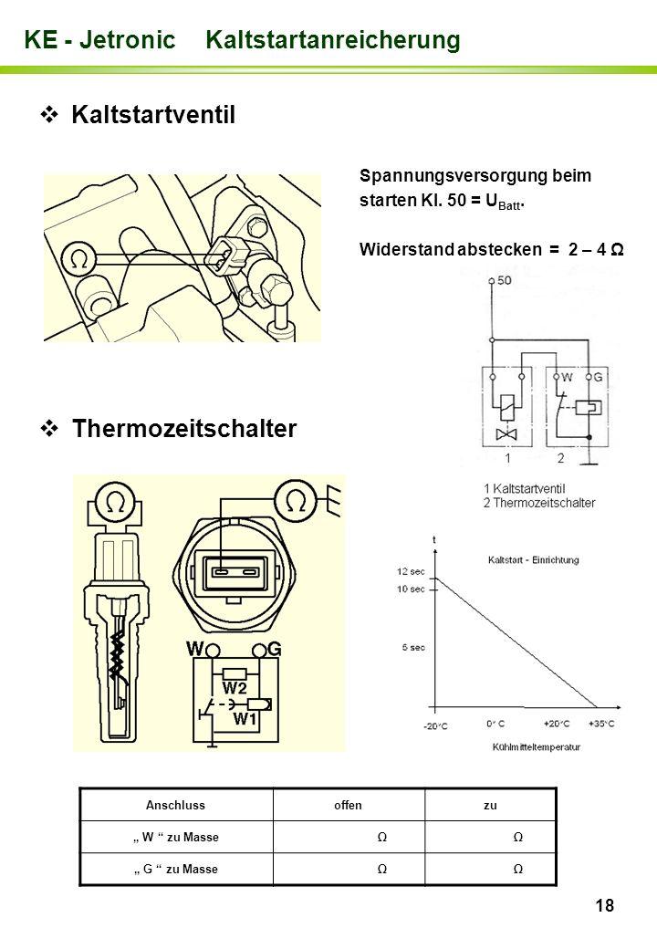 KE - Jetronic Kaltstartanreicherung