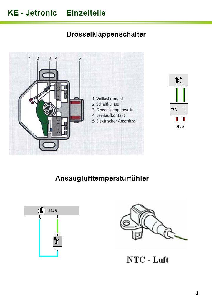 Drosselklappenschalter Ansauglufttemperaturfühler